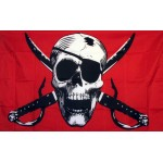 Crimson 3'x 5' Pirate Flag