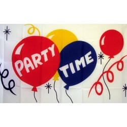 Party Time 3'x 5' Novelty Flag