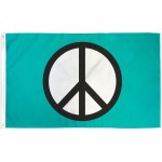 Peace Symbol 3'x 5' Novelty Flag