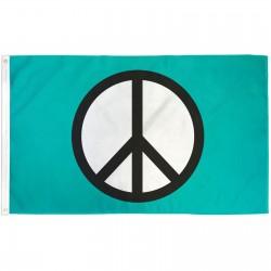 Peace Symbol 3'x 5' Novelty Flag