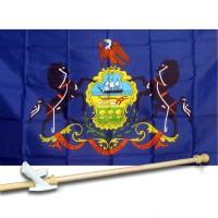 PENNSYLVANIA 3' x 5'  Flag, Pole And Mount.