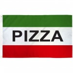 Pizza Green 3' x 5' Polyester Flag