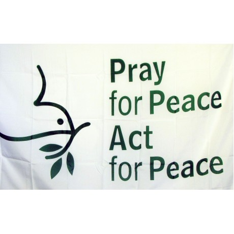 Pray For Peace Religious 3'x 5' Flag