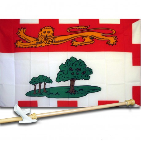 PRINCE EDWARD ISLAND 3' x 5'  Flag, Pole And Mount.