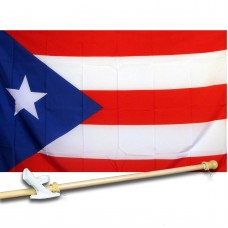 Puerto Rico 3' x 5' Flag, Pole and Mount