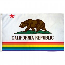 California Rainbow Pride 3 'x 5' Polyester Flag