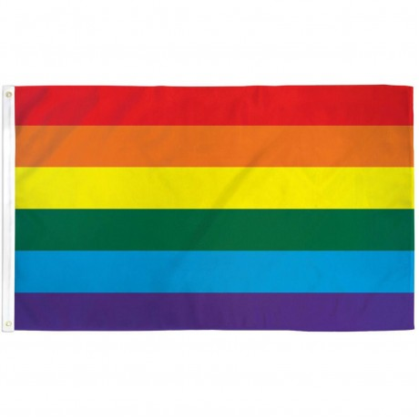 Rainbow Gay Pride 3' x 5' Polyester Flag