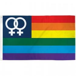 Rainbow Double Venus USA 3' x 5' Polyester Flag