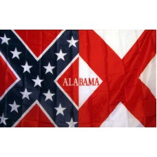 Rebel Alabama 3'x 5' Novelty Flag