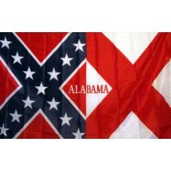 Rebel Alabama 3'x 5' Novelty Flag