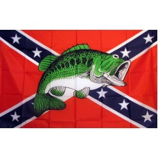 Rebel Bass 3'x 5' Novelty Flag