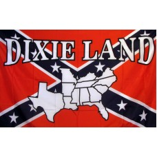Rebel Dixie Land 3'x 5' Novelty Flag