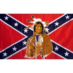 Rebel Indian 3'x 5' Novelty Flag