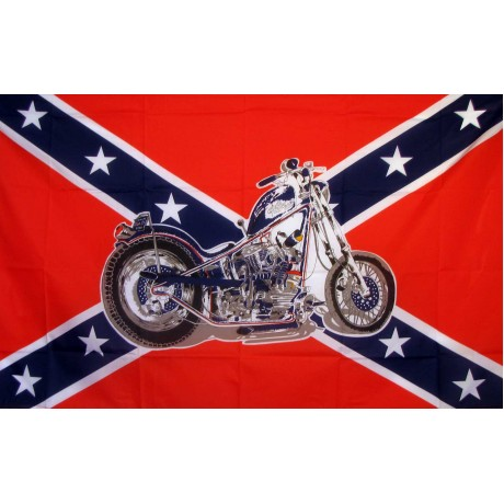 Rebel Motorcycle 3'x 5' Novelty Flag