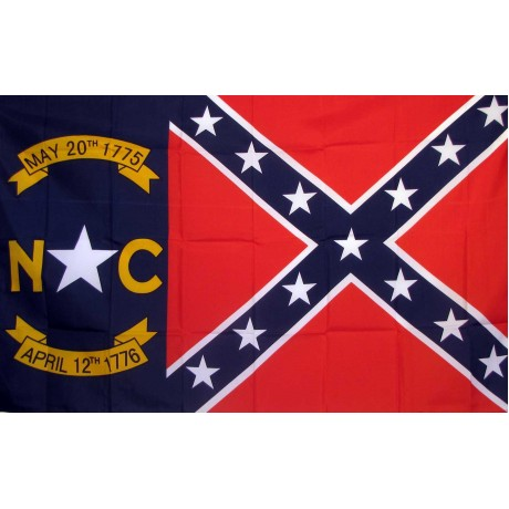 Rebel North Carolina 3' x 5' Polyester Flag