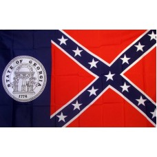 Rebel Old Georgia 3'x 5' Novelty Flag