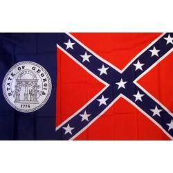 Rebel Old Georgia 3'x 5' Novelty Flag