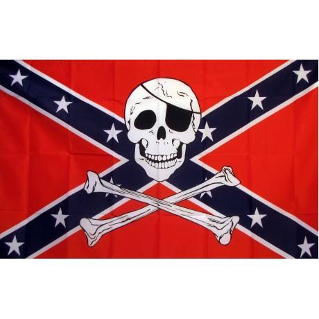 Rebel Pirate 3'x 5' Flag