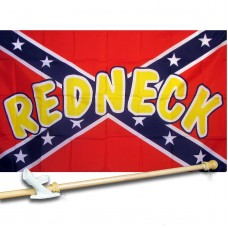 Rebel Redneck 3' x 5' Polyester Flag, Pole and Mount
