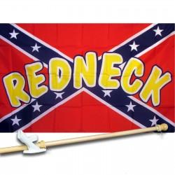 Rebel Redneck 3' x 5' Polyester Flag, Pole and Mount