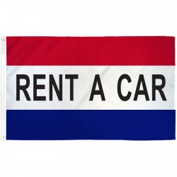 Rent A Car Patriotic 3' x 5' Polyester Flag