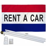Rent A Car Patriotic 3' x 5' Polyester Flag, Pole and Mount