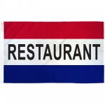 Restaurant Patriotic 3' x 5' Polyester Flag
