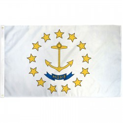 Rhode Island State 3' x 5' Polyester Flag