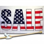 Sale USA 3' x 5' Polyester Flag, Pole and Mount
