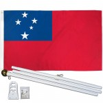 Western Samoa 3' x 5' Polyester Flag, Pole and Mount