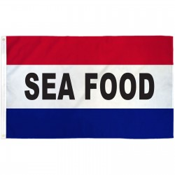 Seafood Patriotic 3' x 5' Polyester Flag