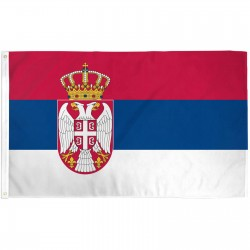 Serbia 3' x 5' Polyester Flag