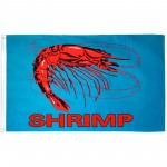 Shrimp Blue 3'x 5' Advertising Flag