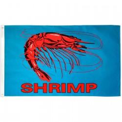 Shrimp Blue 3' x 5' Polyester Flag
