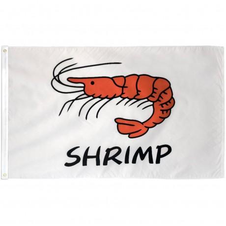 Shrimp White 3' x 5' Polyester Flag