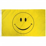 Yellow Smiley Face 3' x 5' Polyester Flag