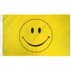 Yellow Smiley Face 3'x 5' Novelty Flag