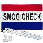 Smog Check Patriotic 3' x 5' Polyester Flag, Pole and Mount