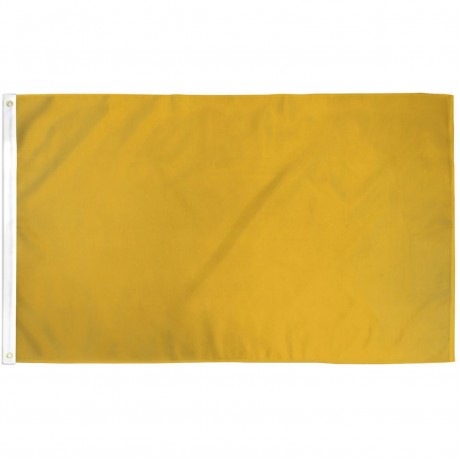 Solid Gold 3' x 5' Polyester Flag