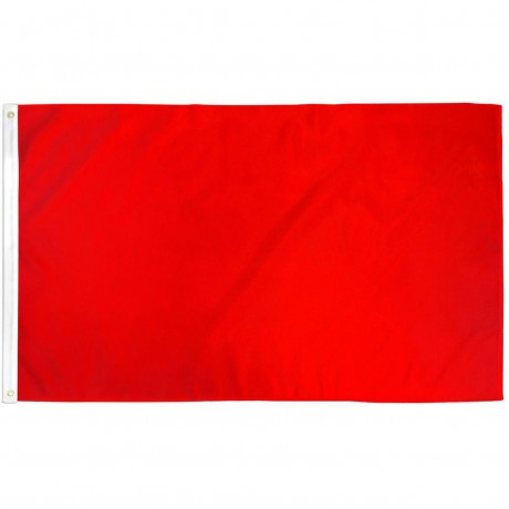 Solid Red 3' x 5' Polyester Flag