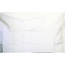 Solid White 3'x 5' Flag