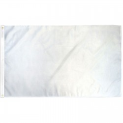 Solid White 3' x 5' Polyester Flag
