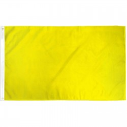 Solid Yellow 3' x 5' Polyester Flag