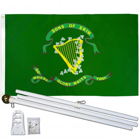 Son of Erin 3' x 5' Polyester Flag, Pole and Mount