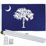 South Carolina State 3' x 5' Polyester Flag, Pole and Mount