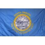 South Dakota 3'x 5' Solar Max Nylon State Flag