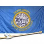 SOUTH DAKOTA 3' x 5'  Flag, Pole And Mount.