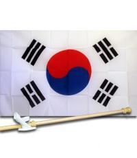 South Korea 3'x 5' Flag, Pole and Mount