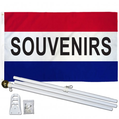 Souvenirs Patriotic 3' x 5' Polyester Flag, Pole and Mount