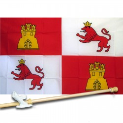 Spain Lions & Castle 3' x 5' Polyester Flag, Pole and Mount